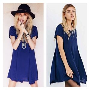Silence & Noise Witchy Tee Dress - blue xs